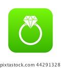 Ring LGBT icon digital green 44291328
