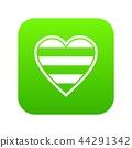 Heart LGBT icon digital green 44291342