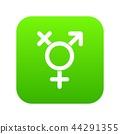 Transgender sign icon digital green 44291355