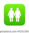 Two girls lesbians icon digital green 44291360