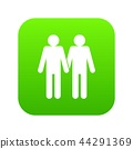 Two men gay icon digital green 44291369