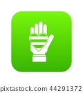 Hand holding heart of LGBT icon digital green 44291372