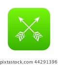 Arrows LGBT icon digital green 44291396