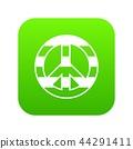 LGBT peace sign icon digital green 44291411