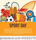 sport concept. Sports equipment background. 44292279
