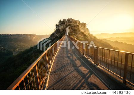 Civita di Bagnoregio, beautiful old town in Italy. 44292430