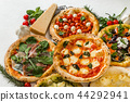 披薩 意大利菜 白色背景 44292941