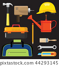 illustration set isolated icons building tools  44293145