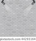 Spotlights on grey brick wall background 44293164