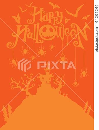 Halloween night background  44293246