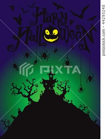 Halloween night background  44293248