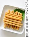 日本醃菜 爛醉如泥的 白色背景 44294071