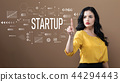 Startup text with business woman 44294443