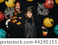Couple sister and her brother in Halloween costume 44295155