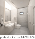 Modern toilet in house , 3d rendering 44295324