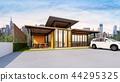 Exterior of Restaurant Bistro & Bar , 3d rendering 44295325
