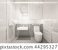 Interior of Modern Disabled toilet, 3d rendering 44295327