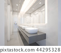 Interior of public toilet with basin ,3d rendering 44295328