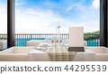 Tropical Restaurant take sea view , 3d rendering 44295539