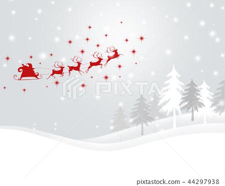 圣诞节圣诞节背景圣诞老人雪 44297938