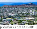 """""""하와이""""호놀룰루의 파노라마 풍경 · 탄탈 루스 언덕에서 44298013"""