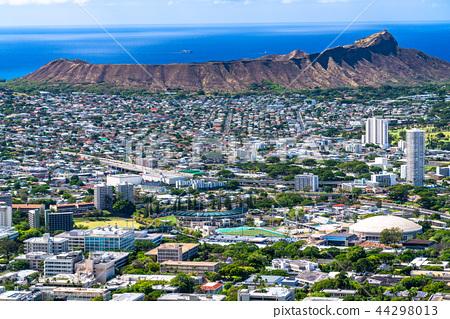 """坦塔羅斯山上的""""夏威夷""""檀香山全景 44298013"""