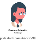 Female Scientist Flat Illustration 44299598