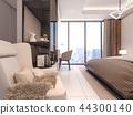 3D rendering of luxury bedroom with armchair  44300140