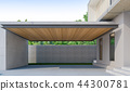 3D Rendering of parking area in the house 44300781