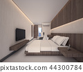 3D Rendering of Master bedroom for staff 44300784