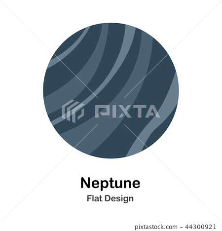 Neptune Flat Illustration 44300921