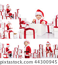 Christmas concept collage with Santa 44300945