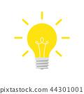 bulb, idea, light 44301001