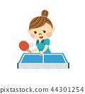 打乒乓球的女人 44301254
