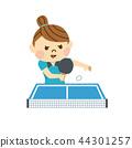 打乒乓球的女人 44301257
