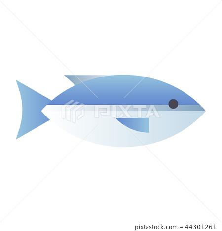 Salmon gradient illustration 44301261