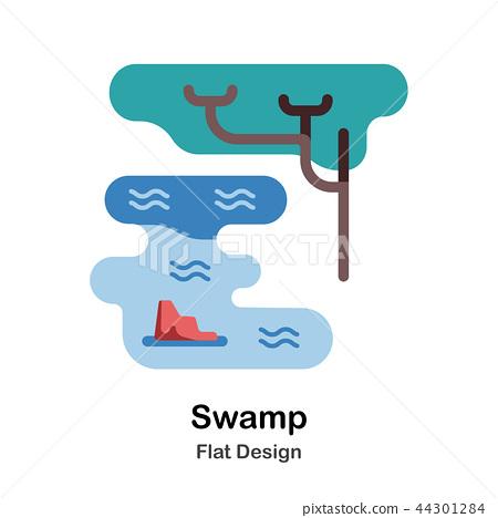 Swamp Flat Icon 44301284