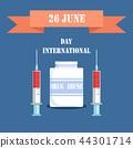 June 26 International Day Vector Illustration 44301714