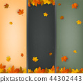 잎, 배경, 벡터 44302443