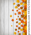 Autumn background with falling leaves. Red, yellow and orange autumn leaves. Vector 44302566