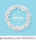 christmas, wreath, 3d 44302921