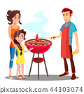 family barbecue food 44303074