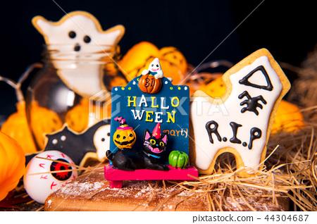 万圣节 饼干 幽灵 44304687