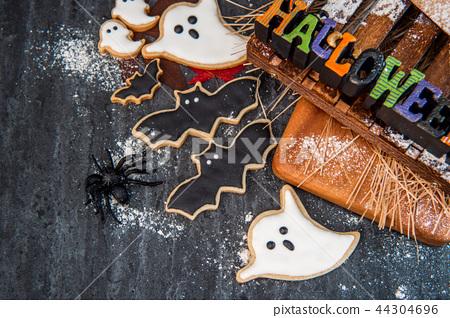 万圣节 饼干 家庭自制 44304696