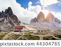 rifugio high at the Dolomites mountains 44304765