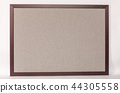 colorful whiteboard with frame on a white backgrou 44305558