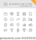 Business line icons set. Second group 44305630