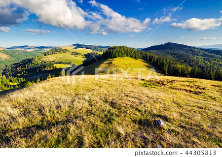 mountainous early autumn landscape in evening 44305813