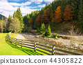 river, fence, road 44305822