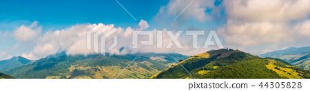 wonderful mountainous panorama in autumn 44305828